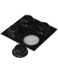 Tunze 4 Amortiguadores ø11 x 5 mm Negro (9430.109)