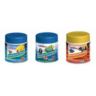 Pack Nº1 Ocean Nutrition: Formula One Flakes, Formula One Pellets y Brine Shrimps Plus Flakes