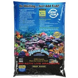Bio Activ Live Aragonite Nature´s Ocean (saco de 4'5 kg). Arena negra.