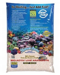 Bio Activ Live Aragonite Nature´s Ocean (saco de 9 kg). Arena blanca.