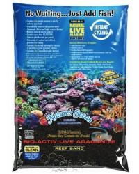 Bio Activ Live Aragonite Nature´s Ocean (saco de 9 kg). Arena negra.