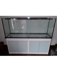 Mesa a medida color blanco 220x60 para acuario