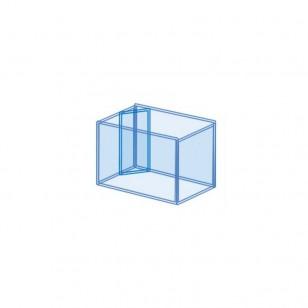 Rebosadero en diagonal (incluye agujeros de subida y bajada) para acuario a medida
