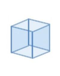 Urna cúbica a medida para acuario 45x45x45