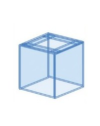 Urna cúbica a medida para acuario 70x70x60