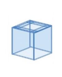 Urna cúbica a medida para acuario 80x80x50