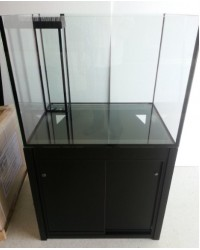 Mesa a medida color negro 130x40 para acuario