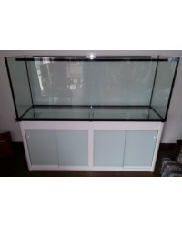 Mesa a medida color blanco 200x60 para acuario