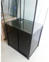 Mesa a medida color negro 90x90 para acuario