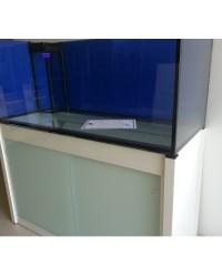 Mesa a medida color blanco 100x100 para acuario