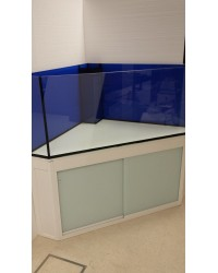 Mesa de esquina a medida color negro 120x120 para acuario de esquina